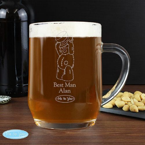 Personalised Me To You Male Wedding Tankard